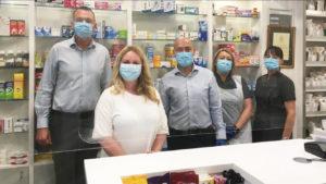 Dr Lisa Cameron with the pharmacy team at Abbeygreen Pharmacy